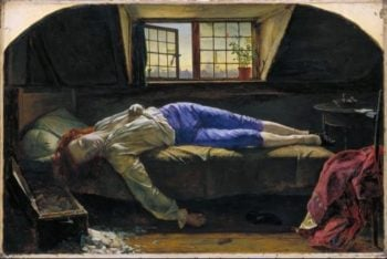 Chatterton | Henry Wallis | oil painting