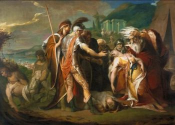 King Lear Weeping over the Dead Body of Cordelia | James Barry | oil painting