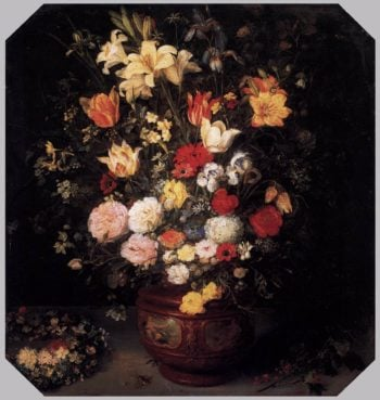 Still-life with a flower bouquet | Jan Brueghel The Elder | oil painting