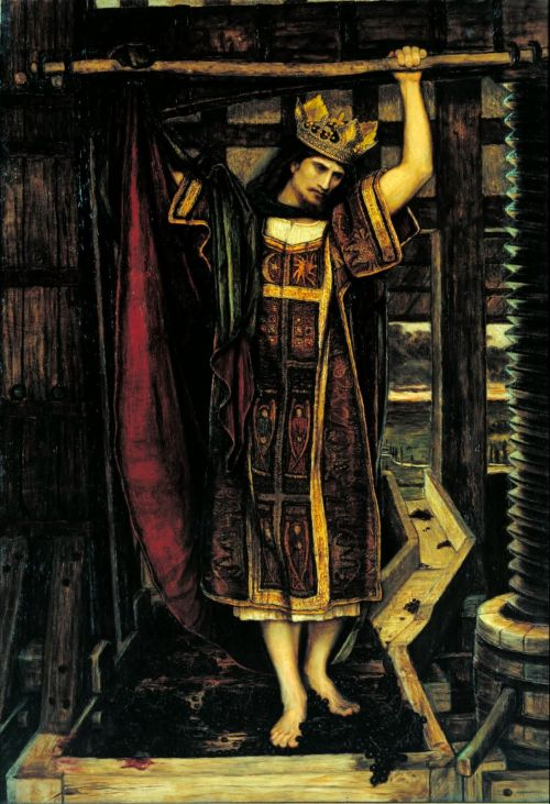 The Wine Press | John Roddam Spencer Stanhope | oil painting