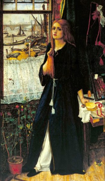 Thoughts of the Past | John Roddam Spencer Stanhope | oil painting