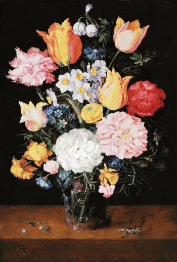 Bouquet of flowers in a glass vase | Jan Brueghel II (the Younger) | oil painting