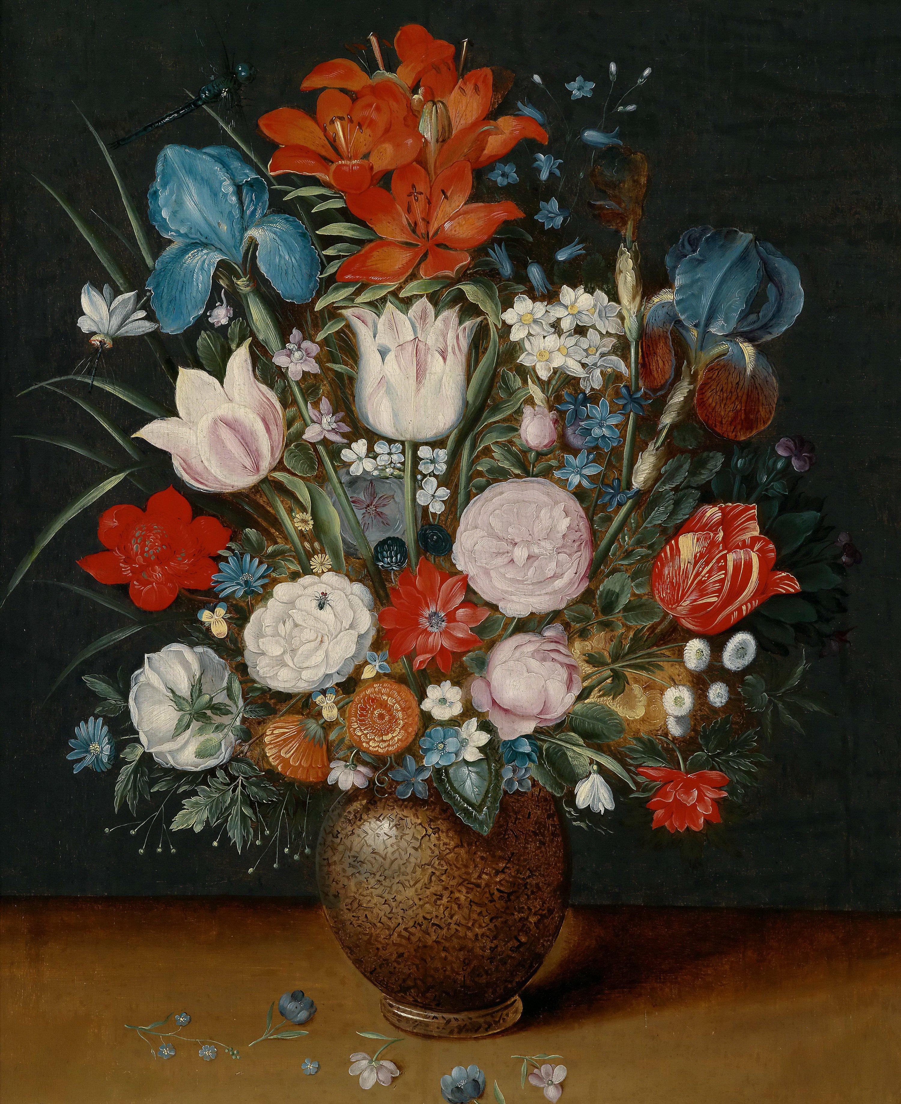 Bouquet of flowers in a vase Painting | Jan Brueghel II ...