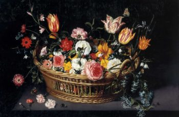 Basket of Flowers | Jan Brueghel II (the Younger) | oil painting