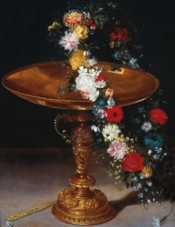 Bowl with wreath | Jan Brueghel II (the Younger) | oil painting