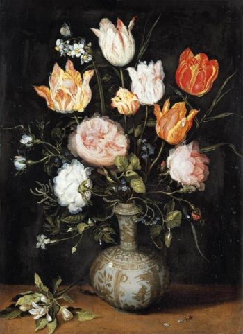Bouquet in a ceramic vase | Jan Brueghel II (the Younger) | oil painting