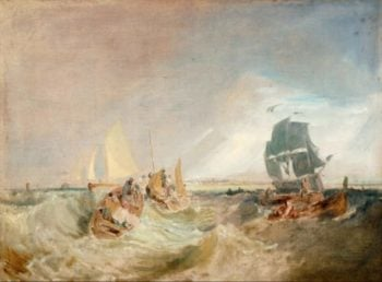 Shipping at the Mouth of the Thames | Joseph Mallord William Turner | oil painting