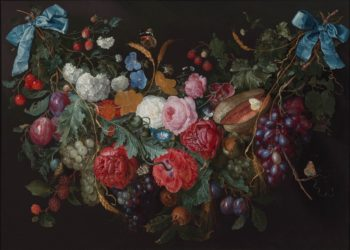 Garland of flowers (1670s) | Jacob van Walscapelle | oil painting