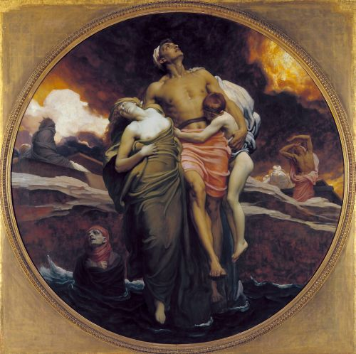 And the Sea Gave Up the Dead Which Were in It | Lord Leighton Frederic | oil painting