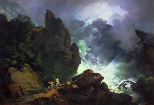 An Avalanche in the Alps | Phillip James De Loutherbourg | oil painting