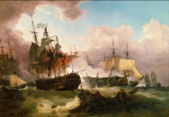 The Battle of Camperdown | Phillip James De Loutherbourg | oil painting
