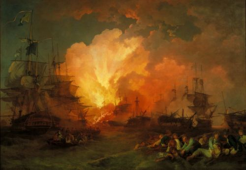 The Battle of the Nile | Phillip James De Loutherbourg | oil painting