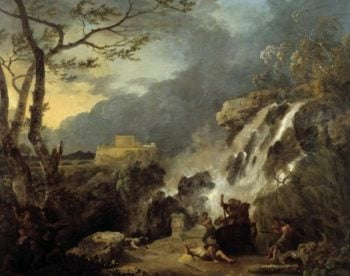 Meleager and Atalanta | Richard Wilson | oil painting