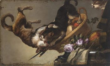 Fight cats | Frans Snyders | oil painting