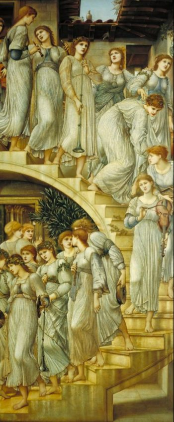 The Golden Stairs | Sir Edward Coley Burne Jones | oil painting
