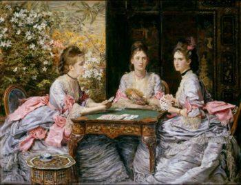 Hearts are Trumps | Sir John Everett Millais | oil painting