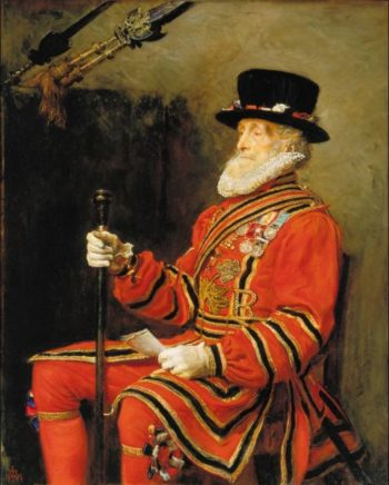 The Yeoman of the Guard | Sir John Everett Millais | oil painting