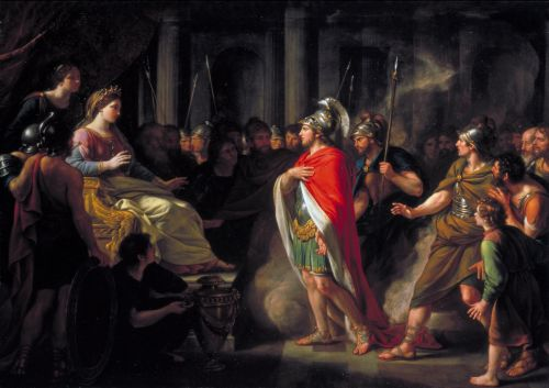 The Meeting of Dido and Aeneas | Sir Nathaniel Dance Holland | oil painting