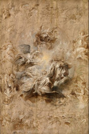 Multiple Sketch for the Banqueting House Ceiling | Sir Peter Paul Rubens | oil painting