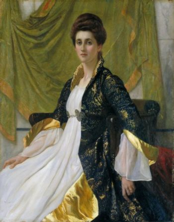 Portrait of Mrs Ernest Moon | Sir William Blake Richmond | oil painting