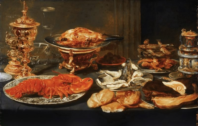 Still life with Lobster   Frans Snyders   oil painting
