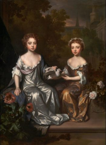 Portrait of Henrietta and Mary Hyde | Willem Wissing | oil painting