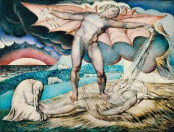 Satan Smiting Job with Sore Boils | William Blake | oil painting