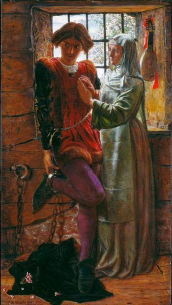 Claudio and Isabella | William Holman Hunt | oil painting