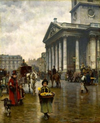 St Martin in the Fields | William Logsdail | oil painting