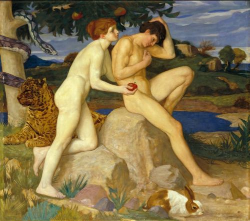 The Temptation | William Strang | oil painting