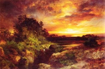 An Arizona Sunset Near the Grand Canyon | Thomas Moran | oil painting