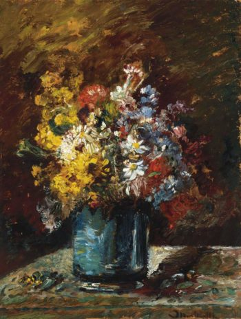 Different Flowers | Adolphe Monticelli | oil painting
