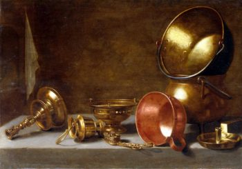 Still life with copper tableware | Floris Gerritsz van Schooten | oil painting