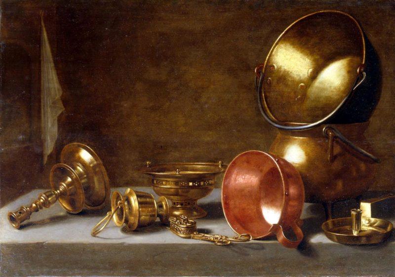 Still life with copper tableware | Floris Gerritsz van Schooten | oil painting