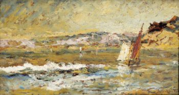 The Sea at Cassis | Adolphe Monticelli | oil painting