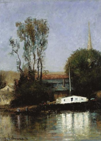 A Boat on the Seine 1871 | Albert Lebourg | oil painting