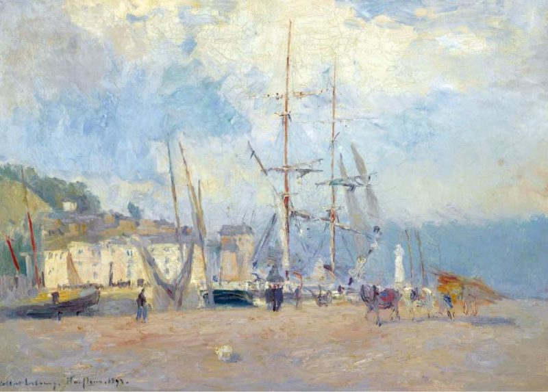At the Port at Honfleur 1893 | Albert Lebourg | oil painting