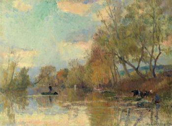 Laundresses 1898 | Albert Lebourg | oil painting