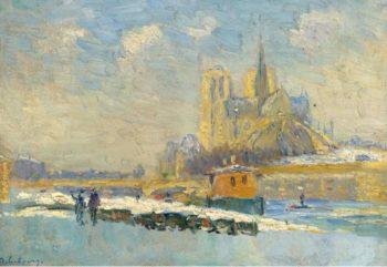 Notre Dame de Paris and the Quay of Tournelle | Albert Lebourg | oil painting
