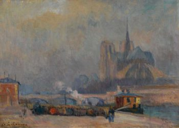 Notre Dame de Paris View from the Quay of Tournelle | Albert Lebourg | oil painting