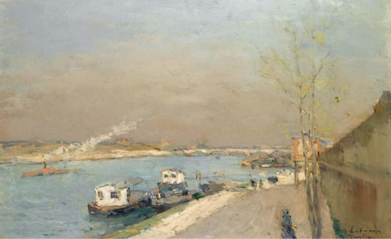 Quay of the Seine Spring Morning | Albert Lebourg | oil painting