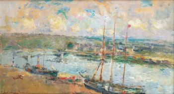 Rouen and Saint Sever 1900 | Albert Lebourg | oil painting