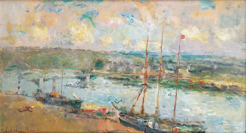 Rouen and Saint Sever 1900 | Albert Lebourg | oil painting