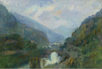 Sunset at Saint Maurice 1903 | Albert Lebourg | oil painting