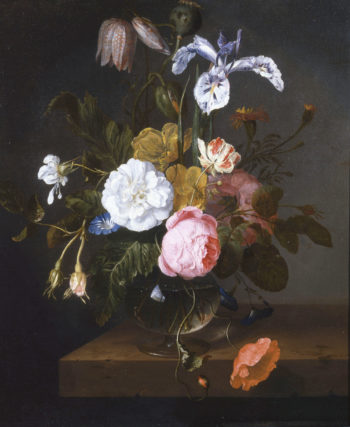 Bouquet of flowers in a glass vaze | Cornelis Kick | oil painting