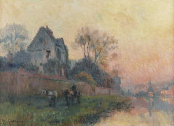 The Banks of the Seine and Castle | Albert Lebourg | oil painting