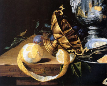Still life detail | Cornelis de Heem | oil painting