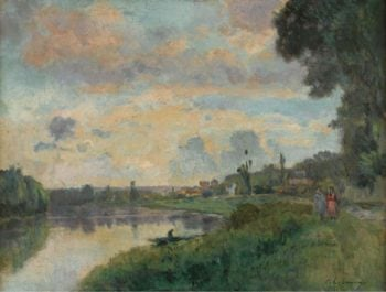 The Banks of the Seine in the Outskirts of Rouen | Albert Lebourg | oil painting
