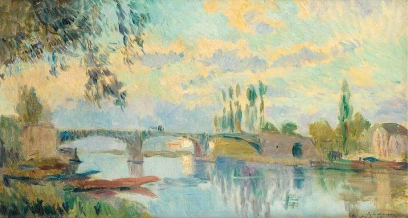 The Bridge of Chatou 1905 | Albert Lebourg | oil painting