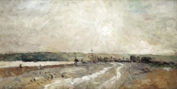 The Port near Rouen   Albert Lebourg   oil painting